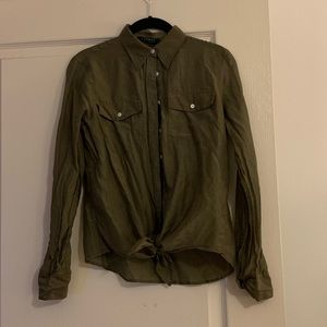 Ralph Lauren Silk Tie Front Shirt